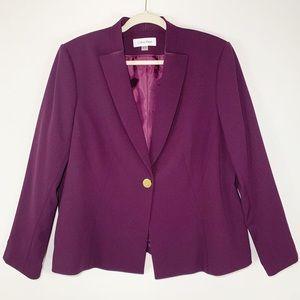Calvin Klein | Single Button Blazer in Aubergine